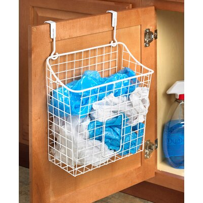 Over the Cabinet Grid Cabinet Door Organizer Color: White