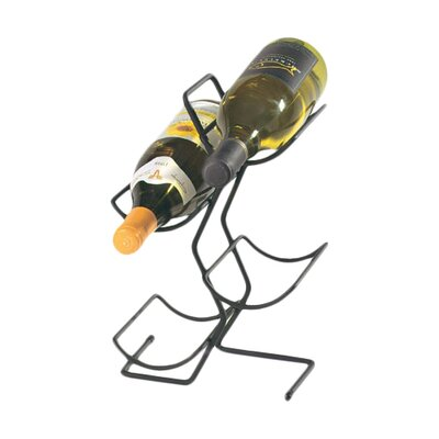 4 Bottle Tabletop Wine Rack Finish: Black