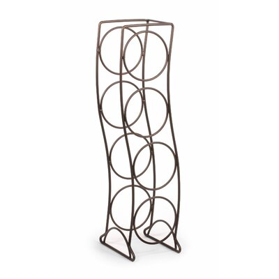 Curve 4 Bottle Tabletop Wine Rack Finish: Bronze