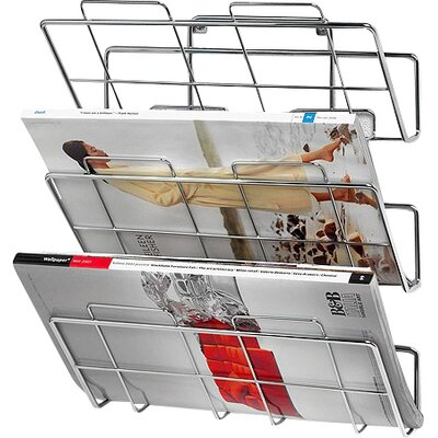 3-Tier Wall-Mount File Holder with Screws in Chrome