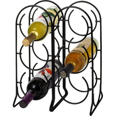 Horseshoe 6 Bottle Tabletop Wine Rack Finish: Black