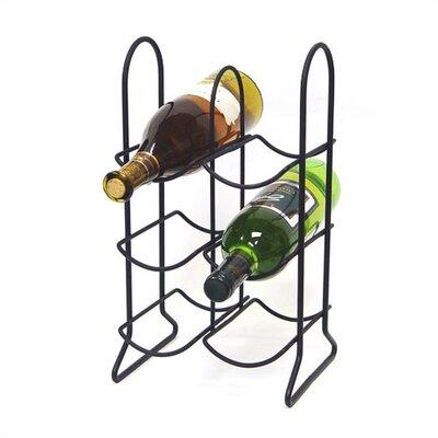 Townhouse 6 Bottle Tabletop Wine Rack Finish: Black