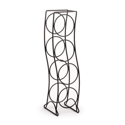 Curve 4 Bottle Tabletop Wine Rack Finish: Black