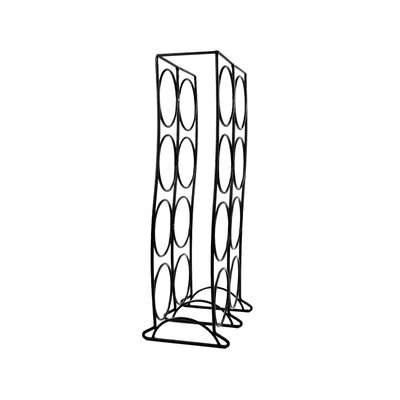 Curve 8 Bottle Tabletop Wine Rack Finish: Black