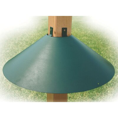 Post Mount Squirrel Baffle in Green BAF3GR