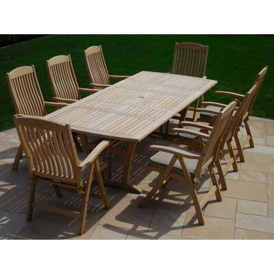 9 Piece Dining Set with Cushion
