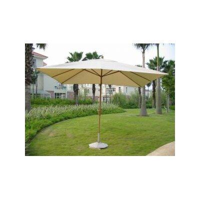 8 x 11 Rectangular Market Umbrella Fabric: Natural