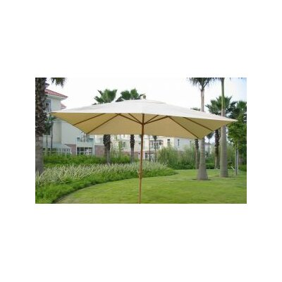 8 x 11 Rectangular Market Umbrella Fabric: Natural