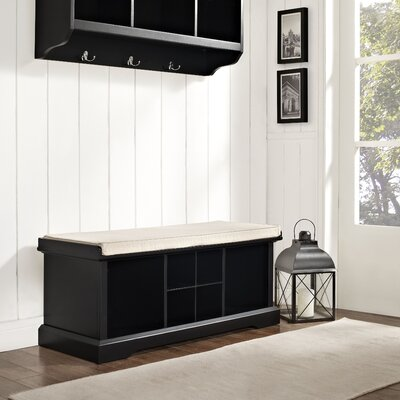 Crosley Brennan Wood Entryway Storage Bench - Color: Black at Sears.com