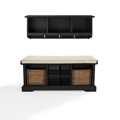 Crosley Brennan 2 Piece Entryway Bench and Shelf Set - Finish: Black at Sears.com