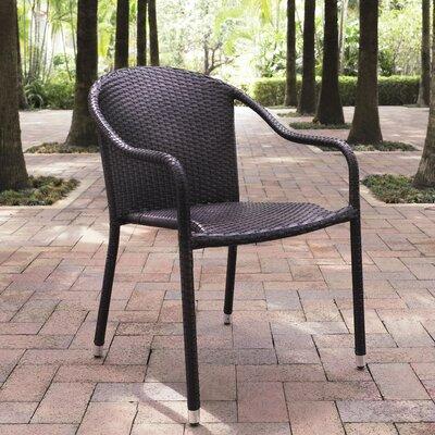 Crosley Outdoor Palm Harbor Outdoor Wicker Stackable Chairs - Set of 4