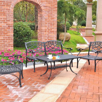 Lomax 3 Piece Cast Lounge Seating Group