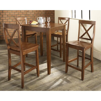 5 Piece Counter Height Pub Set Color: Classic Cherry