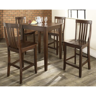 5 Piece Counter Height Pub Set Finish: Vintage Mahogany