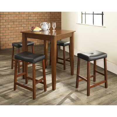 Oren 5 Piece Dining Table Set Color: Classic Cherry
