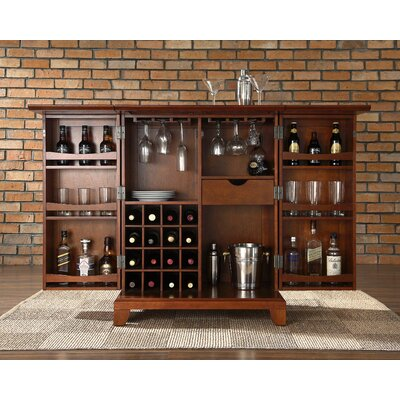Newport Expandable Bar Cabinet In Classic Cherry The