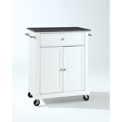 No credit financing Kitchen Cart with Granite Top Base ...