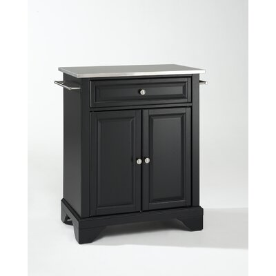 Crosley LaFayette Kitchen Island with Stainless Steel Top - Base Finish: Black at Sears.com