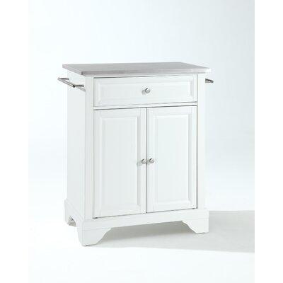 Crosley LaFayette Kitchen Island with Stainless Steel Top - Base Finish: White at Sears.com