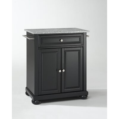 Crosley Alexandria Kitchen Island with Granite Top - Base Finish: Black at Sears.com