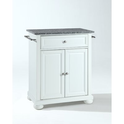 Crosley Alexandria Kitchen Island with Granite Top - Base Finish: White at Sears.com