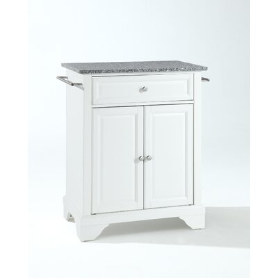 Crosley LaFayette Kitchen Island with Granite Top - Base Finish: White at Sears.com