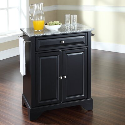 Crosley LaFayette Kitchen Island with Granite Top - Base Finish: Black at Sears.com