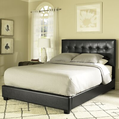 Howell Platform Bed Upholstery: Black, Size: King