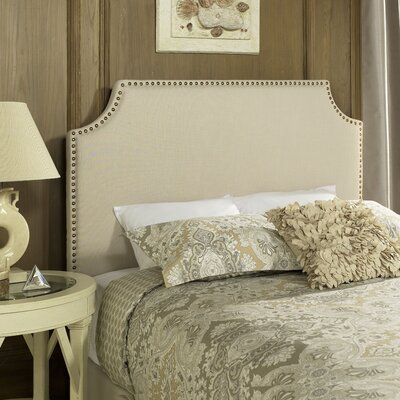 Bulpitt Panel Headboard Size: King, Upholstery: Gray