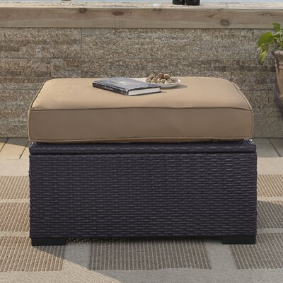 Dinah Ottoman with Cushion Fabric: Mocha