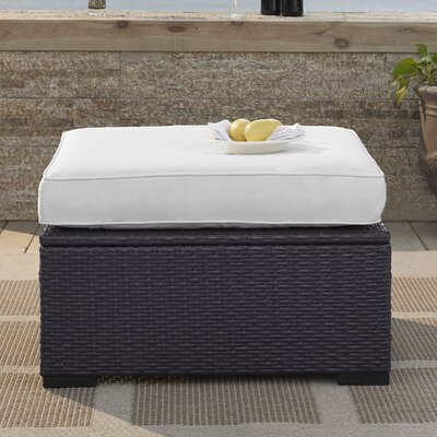 Dinah Ottoman with Cushion Fabric: White