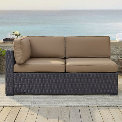 Dinah Loveseat with Cushions Fabric: Mocha