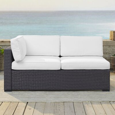 Dinah Loveseat with Cushions Fabric: White