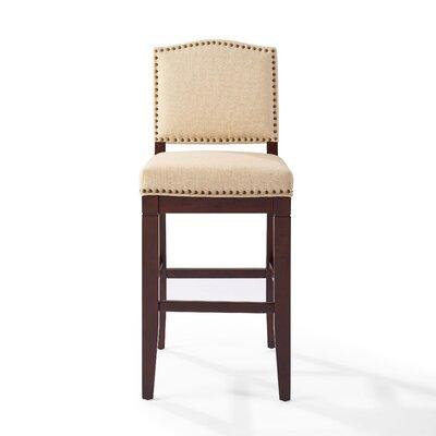 Damiane Bar Stool Upholstery: Oatmeal