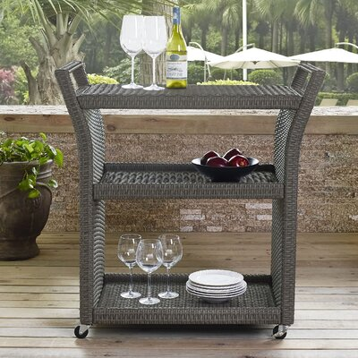 Palm City Outdoor Bar Serving Cart