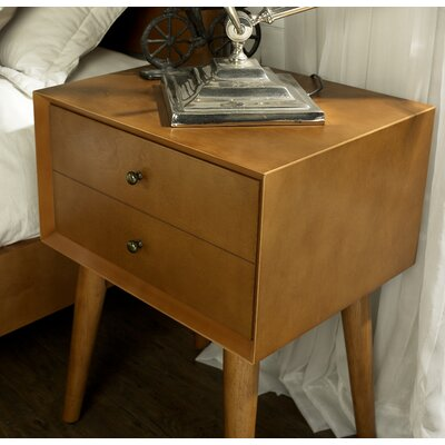 Easmor 2 Drawer Nightstand