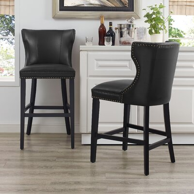Dace Bar Stool Color: Black
