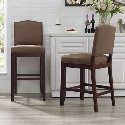 Damiane Counter Bar Stool Upholstery: Bourbon