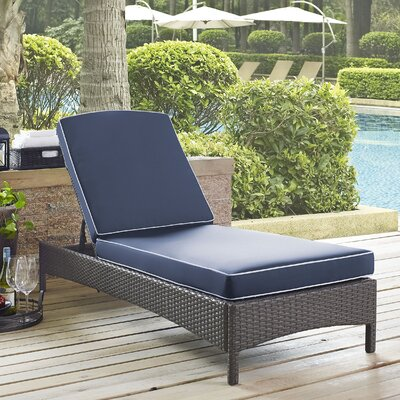 Palm City Outdoor Chaise Lounge with Cushion