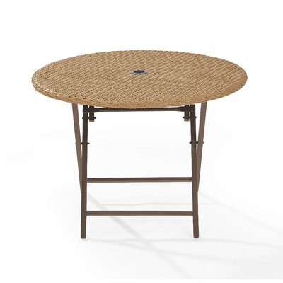 Palm City Folding Wicker Dining Table