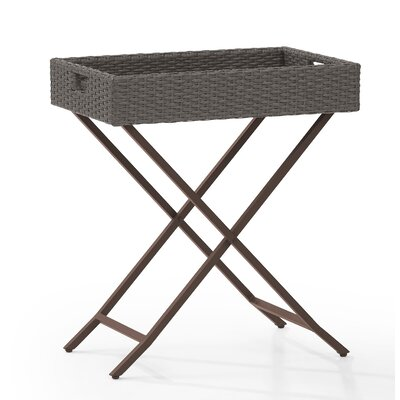 Palm City Tray Folding Wicker Bistro Table