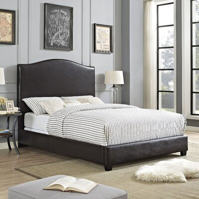 Sylwia Camelback Upholstered Panel Bed Size: Queen