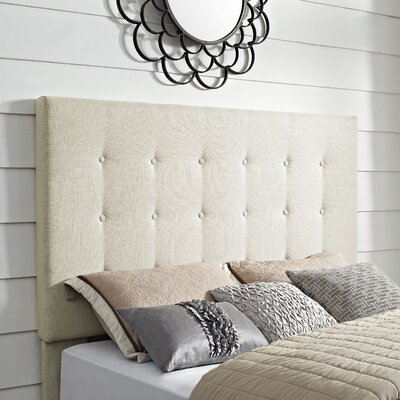 Burger Tufted Upholstered Wingback Headboard Size: King/California King