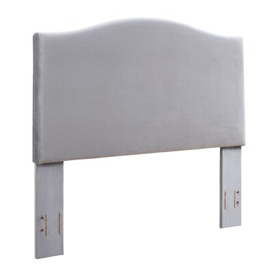 Sylwia Camelback Upholstered Fabric Panel Headboard Size: Full/Queen