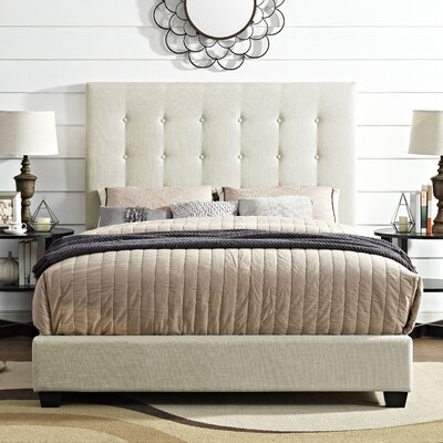 Burger Upholstered Panel Bed Size: Queen