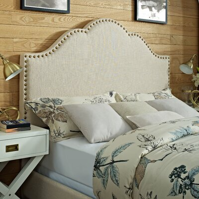 Hagler Upholstered Panel Headboard Size: Full, Upholstered: Cr�me Linen