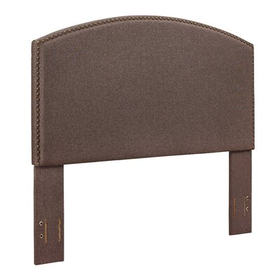 Haggins Upholstered Panel Headboard Size: Full, Upholstered: Bourbon Linen