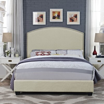 Beneduce Curved Upholstered Panel Bed Size: King