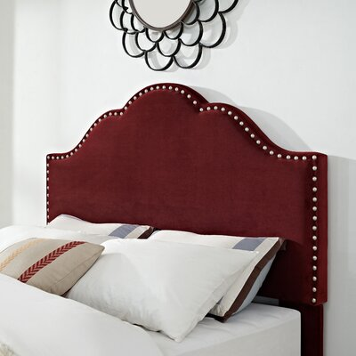 Hagler Upholstered Panel Headboard Size: King, Upholstered: Merlot Microfiber