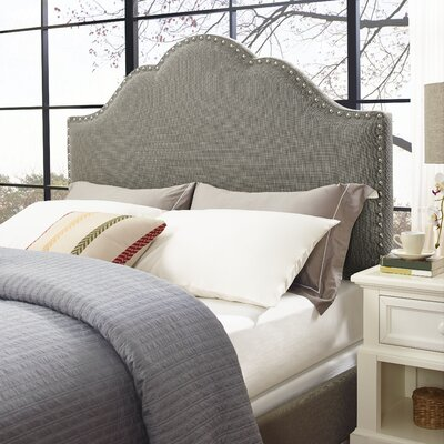 Hagler Upholstered Panel Headboard Size: California King, Upholstered: Shadow Gray Linen